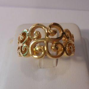 Premier Designs Gold Tone Lace Ring Size 9